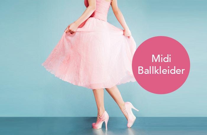 Ballkleid Midi - Mittellange Knielange Ballkleider